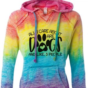 All I Care About Are Dogs And Like 3 People Rainbow Hoodie