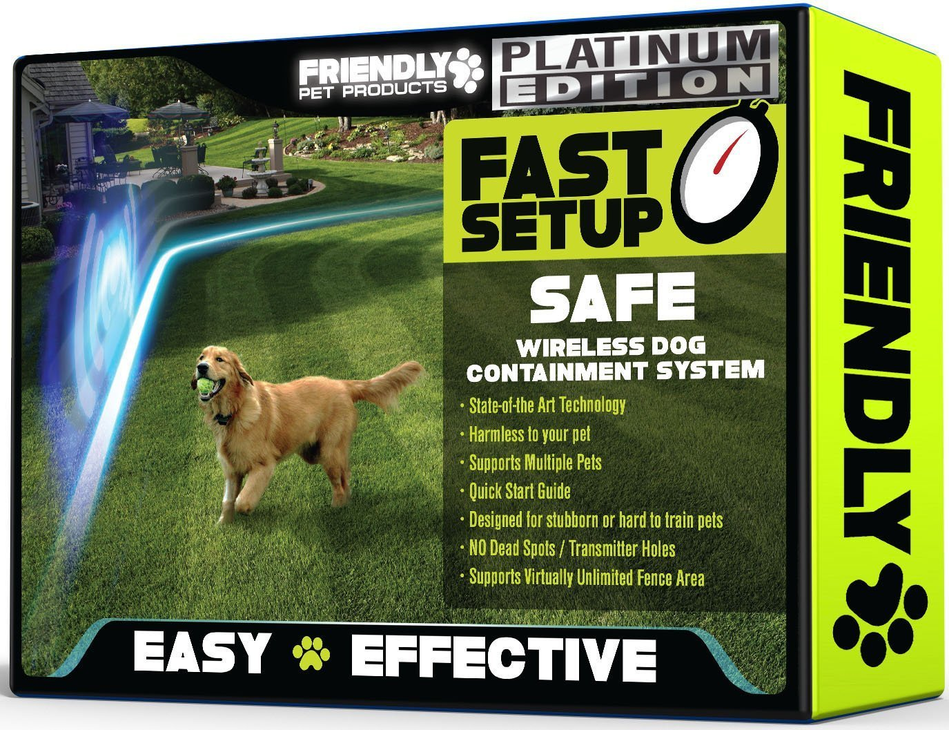 Friendly Pet Products Wireless Dog Fence with Radio