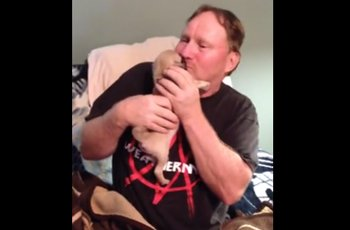 After The Loss Of Their Beloved Dog A Wife Surprises Her Husband With A Pug Puppy FI